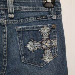 Miss Me Jeans Boot Cut Embellished Cross Size 27